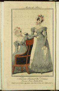 Nouveau Journal des Dames ou Petit Courrier des Modes, des Théatres, de la Littérature et des Arts-- [Paris] : [s.n.] , 1821 (Fair) v. : il. ; 22 cm 6 n. por mes