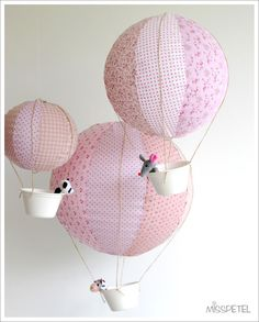 why have I not thought of making hot air balloons out of chinese lanterns before?
