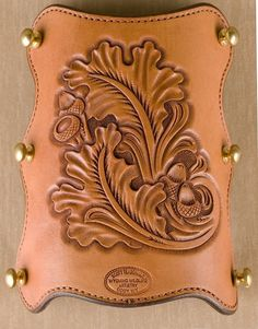- Leather Tooling Patterns, Leather Pattern, Leather Armor, Tooled Leather, Blacksmithing Knives, Acorn And Oak, Archery Equipment, Wood Burning Patterns, Leather Carving