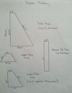 DIY Kids Teepee Tent Tutorial Pattern