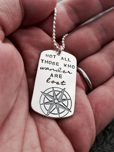 'Not All Those Who Wander Are Lost' Premium Necklace - FREE WORLDWIDE SHIPPING