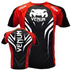 """Venum """"Electron 2.0"""" Walkout Dry Tech T-shirt - Black/Red"""