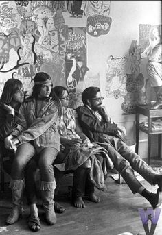 Hippies 1966 they look like any of the students when I was at Uni in the 70's. Love long hair beads color and the peace love.
