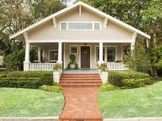 Copy the Charming Curb Appeal- Paint colors included | Landscaping Ideas and Hardscape Design | HGTV