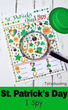 FREE printable I Spy game for St. Perfect no-prep counting activity for preschool and kindergarten. Kids will love finding the adorable images that come in different sizes, making it a challenging visual discrimination activity. March Crafts, St Patrick's Day Crafts, Preschool Crafts, Preschool Colors, Food Crafts, St Patrick's Day Games, I Spy Games, St Patricks Day Spiele, St. Patrick's Day