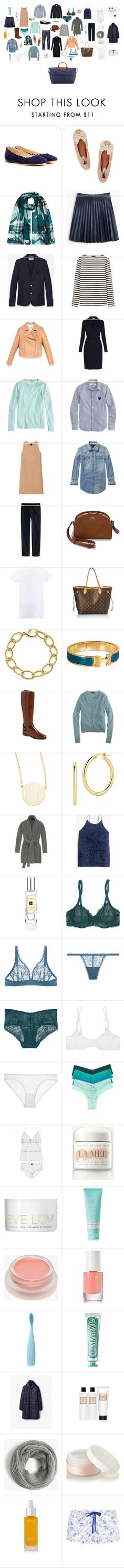 Wardrobe Capsule by thesimplyluxuriouslife on Polyvore featuring мода, Diane Von Furstenberg, Marni, J.Crew, Scotch & Soda, Yves Saint Laurent, Cosabella, Heidi Klum, Lanvin and Chloé
