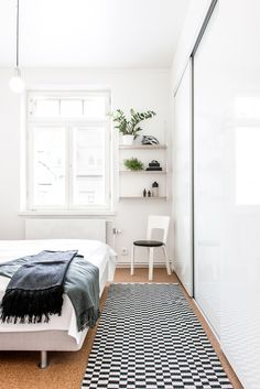 The tiny nook of shelving is so lovely here—a tiny place to but intriguing…