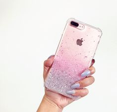 emCase Ash Pink Ombre glitter  Sparkle Transparent iPhone 7 case, iPhone 7 plus Case by HandmadebyTN on Etsy https://www.etsy.com/listing/472011742/emcase-ash-pink-ombre-glitter-sparkle