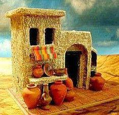 *** Dollhouse Miniature Tutorials, Miniature Rooms, Miniature Houses, Miniature Furniture, Dollhouse Miniatures, Clay Houses, Ceramic Houses, Bird Houses, Christmas Nativity Scene