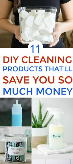 11 DIY Cleaning Products That Will Make Your Life So Much Easier. Love this! These natural homemade cleaning products will save me so much money! And I love how easy they are to make. Thanks a bunch!