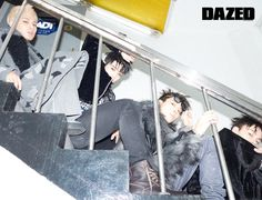 Mingyu, S.Coups, Wonwoo, Vernon (Seventeen) - Dazed & Confused Magazine January Issue '17