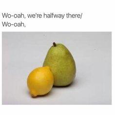 Lemon on a pear.