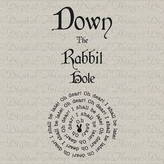 Alice im Wunderland die weiße Kaninchen unten Rabbit