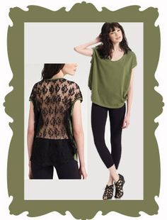 A trend that was very popular this summer was the trend of lace back t-shirts. This trend is very stylish and cute and shows a sense of sexuality without going over board. You see this trend not only with t-shirts but also with racerback beaters. I would not be suprised if I saw lack back dresses. Jasmine B.
