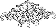 Leaf clipart grape vine - pin to your gallery. Explore what was found for the leaf clipart grape vine Vine Tattoos, Leaf Tattoos, Vine Drawing, Drawing Flowers, White Flower Tattoos, Wine Leaves, Free Clipart Images, Templer, Memorial Stones