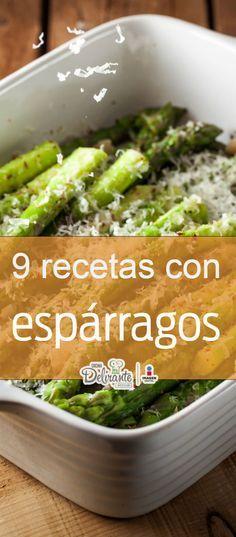 9 deliciosas recetas con espárragos. Vegan Vegetarian, Vegetarian Recipes, Healthy Recipes, Healthy Food, Good Food, Yummy Food, Happy Foods, Healthy Vegetables, Green Beans