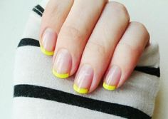 DIY Neon Nails Art: DIY Nails Art: Neon French Manicure