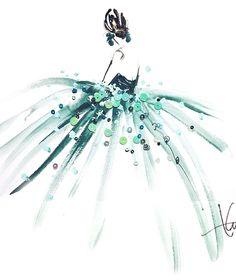 Friday Fashion Illustration Love on ohsplendidlife.com