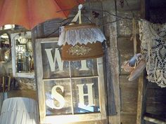 Wish on an old window (from thisgirlgonejunkin)