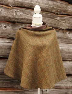 Harris Tweed Olive Wrap