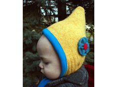 baby girl snow gnome winter hat 618M by resurrectedthreads on Etsy, $45.00