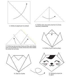 Cómo hacer un gato de papel