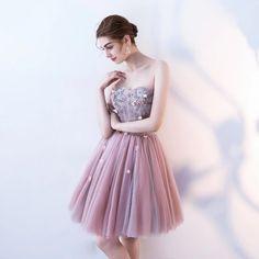 b75dfbd945e7 H51 Sweetheart Appliques Short/Mini Homecoming Dress Pretty A-Line Homecoming  Cute Homecoming Dresses. Zibbet