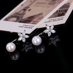 #South #Sea #Shell #Stud #Earrings,  Flower, love it.
