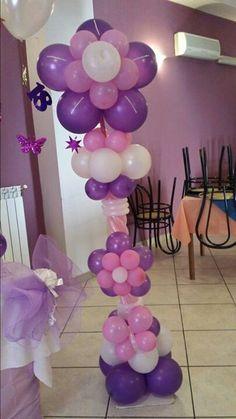 decoracion princesa sofia para cumpleaños con globos - Buscar con Google