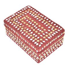 Red Decorative Jewelry Box for Gifts