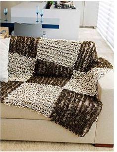 Manta de sof em patchwork knit crochet etc - Mantas para el sofa ...
