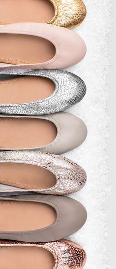 Neutralize the cold with soft winter neutrals. | Tieks Ballet Flats