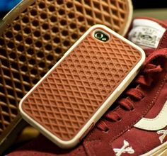The Vans Waffle iPhone 4 Case is a well executed product tie-in that turns your iPhone 4/4S into a shoe. Because, you're going to look smart talking to your shoe.