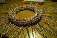 Calabash Bazaar: Wianek Recycle Newspaper, Newspaper Crafts, Recycled Paper Crafts, Paper Basket, Zentangle, Wicker, Origami, Upcycle, Weaving