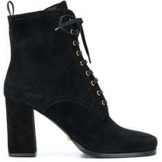 Car Shoe Lace Up Ankle Boots ($306) ❤ liked on Polyvore featuring shoes, boots, ankle booties, black booties, leather lace up boots, leather lace up bootie, short black boots and lace-up bootie