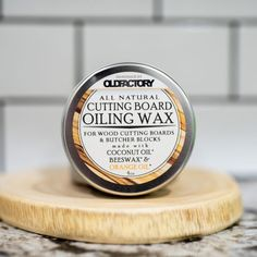 All Natural Cutting Board Seasoning wax - makes your wood cutting boards look AMAZING Wood Cutting, Cutting Boards, Orange Essential Oil, Orange Oil, Organic Coconut Oil, Palm Oil, Baking Ingredients, Cookie Dough, Safe Food