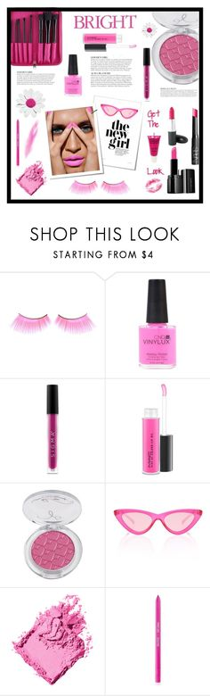 """Hot Pink Beauty"" by terry-tlc ❤ liked on Polyvore featuring beauty, CND, Sigma, MAC Cosmetics, Le Specs, KAROLINA, Celestine and Bobbi Brown Cosmetics"