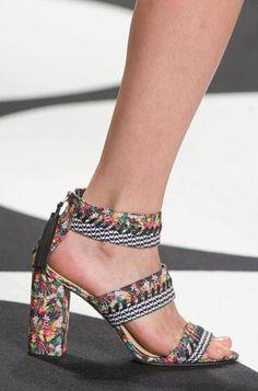 Nicole Miller floral sandals