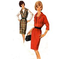 60s Vintage Sewing Pattern Dress or Jumper by allthepreciousthings