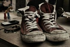 because worn out converse were always so much more better than new converse