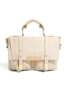 ASOS | ASOS Leather Satchel Bag With Metal Tips at ASOS