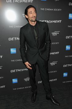 """Adrien Brody in Dolce&Gabbana suit at the """"Detachment"""" premiere in New York."""