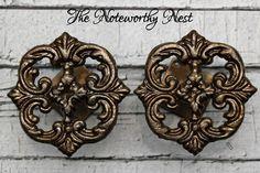 Cast Iron drapery tie back // curtain tie by TheNoteworthyNest