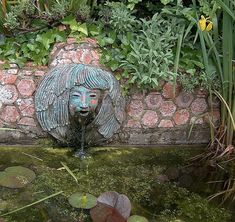 Tuscan Mediterranean Garden Water Feature