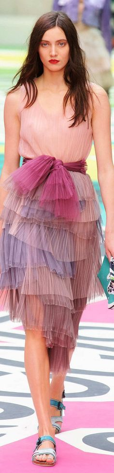dress @roressclothes closet ideas women fashion outfit clothing style apparel Burberry Prorsum - S 15