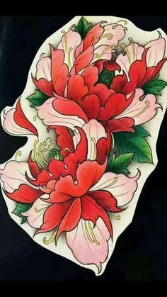 Japanese Flower Tattoo, Japanese Tattoo Designs, Japanese Flowers, Flower Tattoo Designs, Tattoo Sketches, Tattoo Drawings, Body Art Tattoos, 1 Tattoo, Cover Tattoo