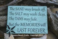 Beach Sign - Beach Decor - Beach House - Beach Theme - Coastal Decor - Nautical - Starfish - Hand Painted from Signs Of Love - Carova Beach.