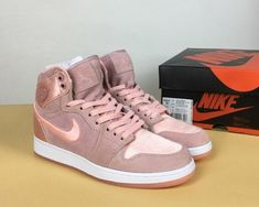 cheaper 9479a 731da Real Air Jordan 1 Retro High Wmns Season of Her Silt Red White-Metallic Gold
