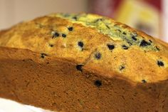 lemon poppy seed pound cake with blueberries