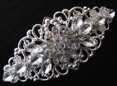 Wedding Hair Barrette, Barette, Bridal Hair, Rhinestone Hair Accessory, Crystal Hair, Bride Hair, Bridesmaids, Flower Girl, Prom Hair